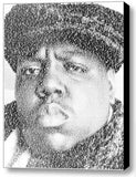 The Notorious B.I.G. Juicy Lyrics Incredible Mosaic 9X11 inch Framed Display , Other - n/a, Final Score Products  - 1
