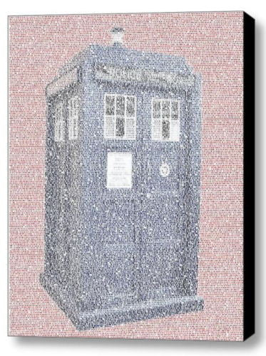 Dr. Who Tardis Doctor Quotes Mosaic INCREDIBLE Framed 9X11 Limited Edition w/COA