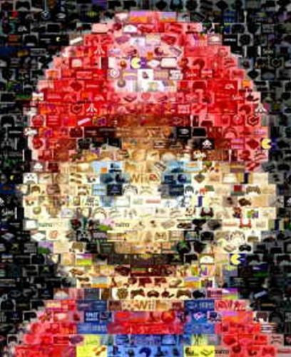 Amazing Mario Nintendo Video Game Montage super print