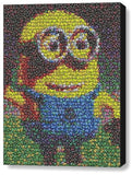 Framed Despicable Me 2 Minion Dave M&Ms Candy incredible Mosaic Print COA , Other - n/a, Final Score Products  - 1