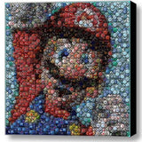 Amazing Framed Nintendo super Mario Bottlecap mosaic print Limited Edition w/COA , Video Game Memorabilia - n/a, Final Score Products  - 1