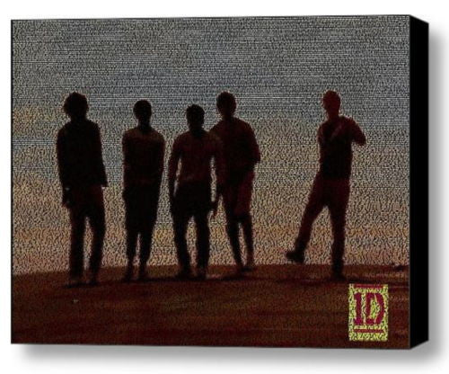 One Direction What Makes You Beautiful lyric Mosaic Framed 9X11 Limited Edition