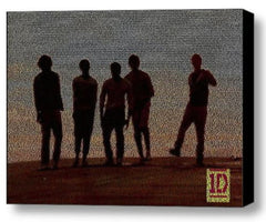 One Direction What Makes You Beautiful lyric Mosaic Framed 9X11 Limited Edition , Other - n/a, Final Score Products  - 1