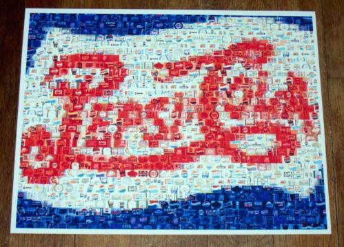 Amazing Pepsi Cola Double Dot vintage sign Montage