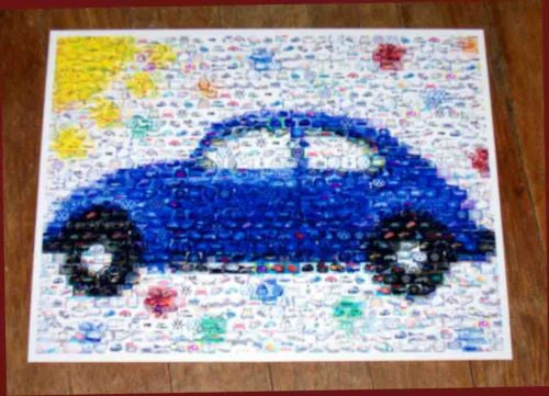 Amazing VW Bug Beetle sunny blue Volkswagen Montage , Volkswagen - n/a, Final Score Products  - 1