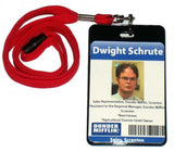 Dwight Schrute The Office Dunder Mifflin ID Badge Halloween Costume prop. , Reproductions - n/a, Final Score Products  - 1