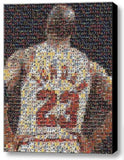 Framed Michael Jordan Jersey Card Mosaic 9X11 Limited Edition Art Print w/COA , Basketball-NBA - n/a, Final Score Products  - 1