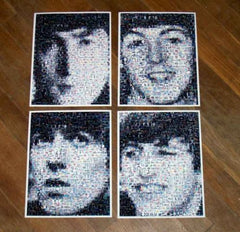 Amazing RARE 1964 set The Beatles face photo Montages , Other - n/a, Final Score Products  - 1