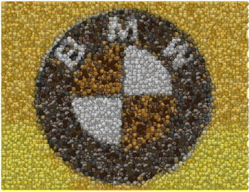 BMW Cars Coins Mosaic Art Print Limited Edition , BMW - n/a, Final Score Products  - 1