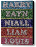 Framed 9X11 inch One Direction Bottle Cap Mosaic Limited Edition Art Print w/COA , Other - n/a, Final Score Products  - 1