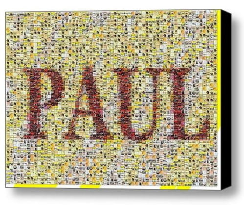 Custom The Beatles Albums YOUR NAME Incredible Mosaic 9X12 Framed Print not $99