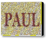 Custom The Beatles Albums YOUR NAME Incredible Mosaic 9X12 Framed Print not $99 , Other - n/a, Final Score Products  - 1