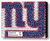 Framed New York Giants Super Bowl XLVI 46 Limited Edition Art Print Mosaic COA , Football-NFL - n/a, Final Score Products  - 1