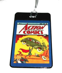 Superman Action Comics #1 Luggage or Book Bag Tag , Superhero - n/a, Final Score Products  - 1