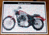 Amzing Harley Davidson Sportster Coke Coca-Cola Montage , Other - Coca Cola, Final Score Products  - 1