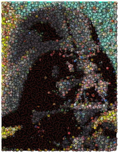 Amazing Star Wars Darth Vader Bottlecap mosaic print , Other - n/a, Final Score Products  - 1