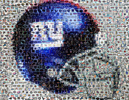 Amazing New York Giants helmet NY Montage LIMITED to 25 , Football-NFL - n/a, Final Score Products  - 1