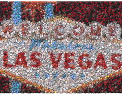 Fabulous Las Vegas Sign Poker Chip Mosaic Print w/COA , Poker Chips - n/a, Final Score Products  - 1