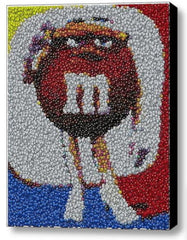 Framed Mrs. Brown MM M&Ms Candy incredible Mosaic Limited Edition Art Print COA , M&M's - n/a, Final Score Products  - 1