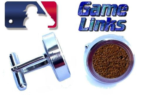 Atlanta Braves MLB Game Used Staduim Dirt Cuff Links , Baseball-MLB - n/a, Final Score Products  - 1