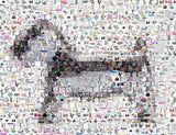 Amazing Scotty Dog Monopoly Piece Montage Limited w/COA , Pre-1970 - n/a, Final Score Products  - 1