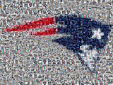 Amazing New England Patriots logo Montage #ed to 25 , Football-NFL - n/a, Final Score Products  - 1