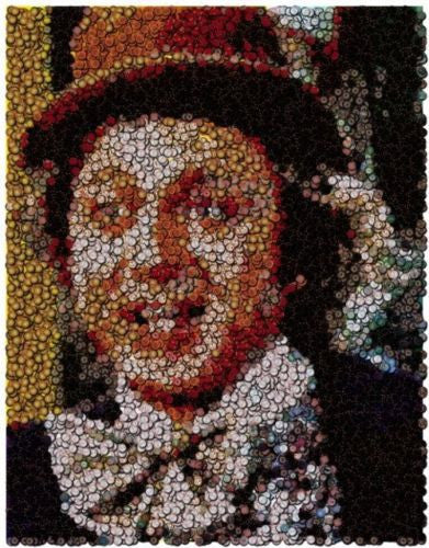 Gene Wilder Willy Wonka Poker Chip Mosaic with COA , Other - n/a, Final Score Products  - 1