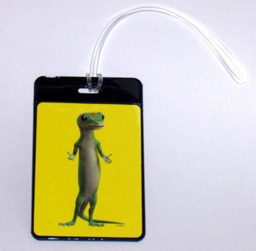 Geico Gecko Insurance Co lizard Luggage or Book Bag Tag , Reproductions - n/a, Final Score Products  - 1