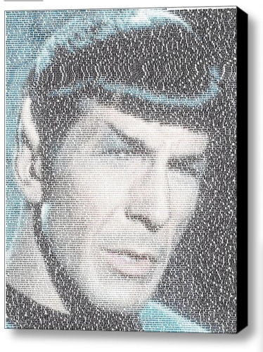 Star Trek Spock Kirk opening text Mosaic Framed 9X11 inch Limited Edition w/COA