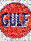 Amazing GULF Gas/Oil old logo sign Montage 1 of only 25 , Gulf - GULF, Final Score Products  - 1