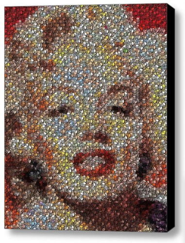 Framed Weird Odd Marilyn Monroe made of Skulls 9X11 Limited Edition Art Print , Prints - n/a, Final Score Products  - 1