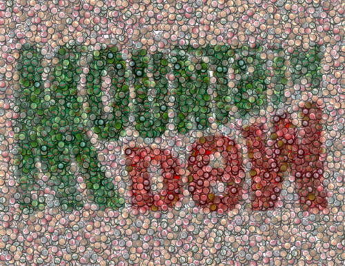 Amazing Mountain Dew Bottlecap mosaic print COOOL