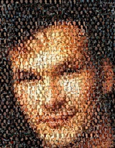 Amazing Patrick Swayze Montage Mosaic numbered with COA , Other - n/a, Final Score Products  - 1