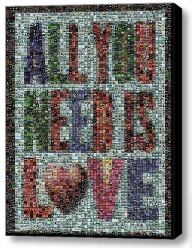 Framed The Beatles All You Need Is Love mosaic 9X11 Limited Edition Art Print