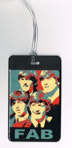 The Beatles Fab Four Luggage or Book Bag Tag , Other - n/a, Final Score Products  - 1