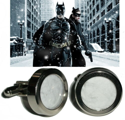 Batman The Dark Knight Rises Gothem City Screen used prop Snow Cuff Links