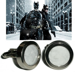 Batman The Dark Knight Rises Gothem City Screen used prop Snow Cuff Links , Originals - n/a, Final Score Products  - 1