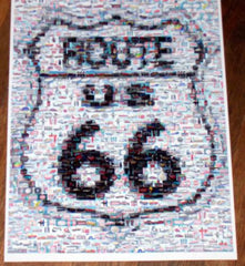 RARE Coke Coca Cola FORD Mustang Route 66 sign Montage , Signs - n/a, Final Score Products  - 1