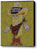Framed Twinkie The Kid Hostess 9X11 Limited Edition Bottle Cap Mosaic Print , Cakes & Doughnuts - Hostess, Final Score Products  - 1