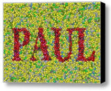 Custom Skittles Candy YOUR NAME Incredible Mosaic 9X12 Framed Print $99 value , Other - n/a, Final Score Products  - 1