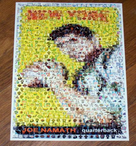 Amazng NY Jets Joe Namath rookie card Montage #ed to 25 , Football - n/a, Final Score Products  - 1
