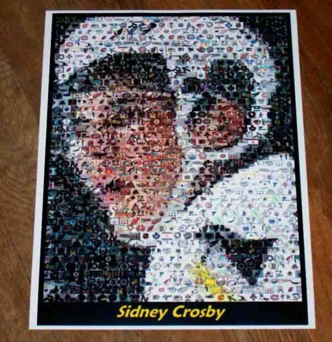 Amazing Pittsburgh Penguins Sidney Crosby Montage. 1 of only 25 ever! , Hockey-NHL - n/a, Final Score Products  - 1
