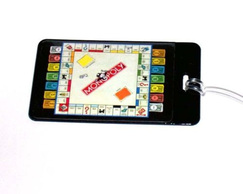 Monopoly Board and Money Luggage or Book Bag Tag