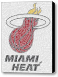 COOL Miami Heat 5 starters name Mosaic Framed 9X11 Limited Edition Art w/COA , Basketball-NBA - n/a, Final Score Products  - 1