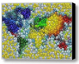 Framed M&Ms colorful World Map Candy incredible Mosaic candies , Other - n/a, Final Score Products  - 1