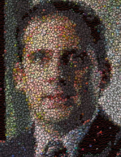 Amazing The Office Michael Scott Bottlecap mosaic print , 2000-Now - n/a, Final Score Products  - 1