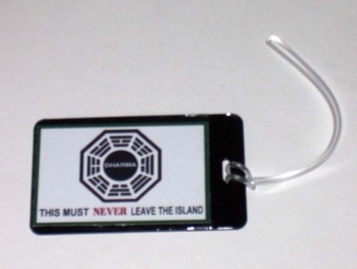 LOST Dharma DO NOT REMOVE Luggage or Book Bag Tag prop , Reproductions - n/a, Final Score Products  - 1
