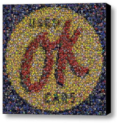 Amazing Framed 8X8 inch OK Used Cars sign Bottlecap mosaic print Limited Edition , Chevrolet - n/a, Final Score Products  - 1