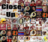 Custom Washington Redskins YOUR NAME Incredible Mosaic 9X12 Framed Print not $99 , Football-NFL - n/a, Final Score Products  - 2