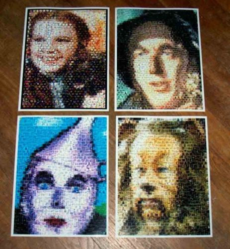 Amazing Wizard of OZ Vintage poster montage set of 4 , Other - n/a, Final Score Products  - 1